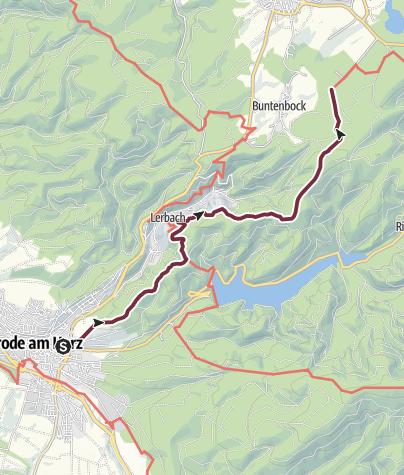 Karte / Harzer-Hexen-Stieg - 1. Etappe - von Osterode nach Buntenbock