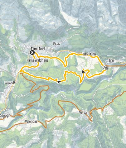 Kaart / 246 Trin Digg - Crestasee