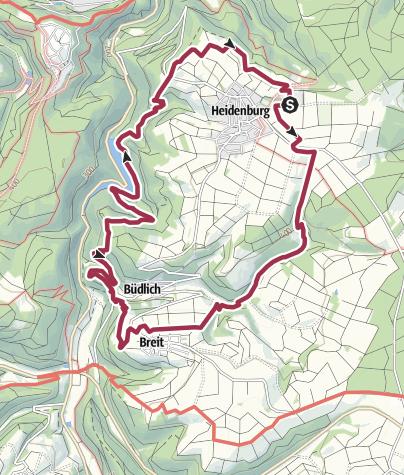 Karte / Traumschleife Wasser Dichter Spuren