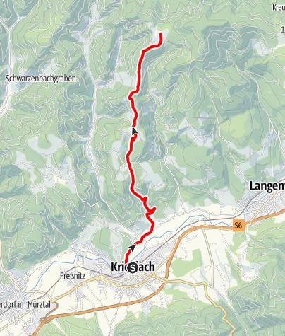 Karte / Mountainbikestrecke Malleistenalm