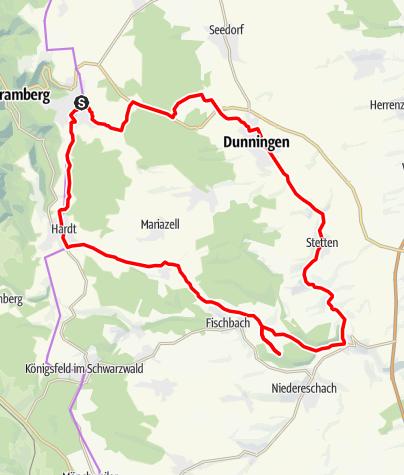 Karte / Schramberg - Von Schramberg zur Eschach