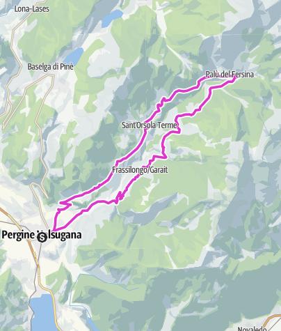 Kaart / Valle dei Mocheni-Passo Redebus