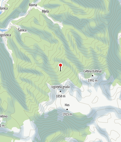 Mapa / Sklonište Čatrnja
