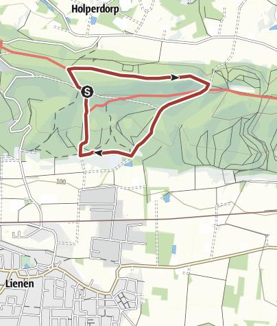 Karte / TERRA.natura Tipp 11: Von Niederwald und Kalkgestein, Tour 3: Bayrisches Ambiente im Tecklenburger Land