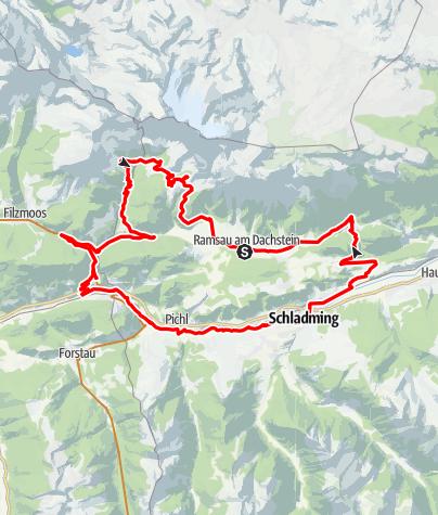 Karte / Mountainbike Tour Panoramarunde