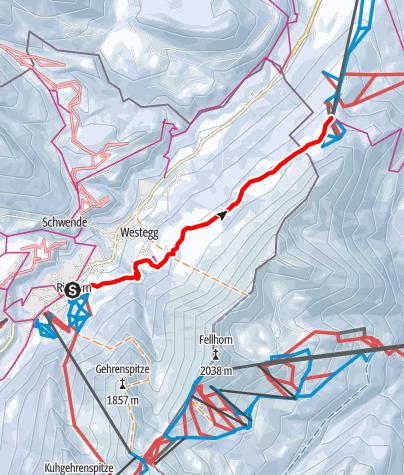 Karte / Höhenweg Söllereck