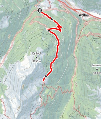 Karte / Hüttschlag: Vorderkaseralm