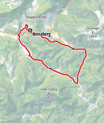 Karte / Walsterursprung-Strecke