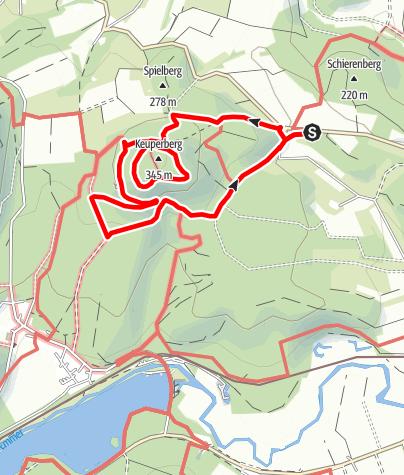 Karte / Lügder Mythenweg