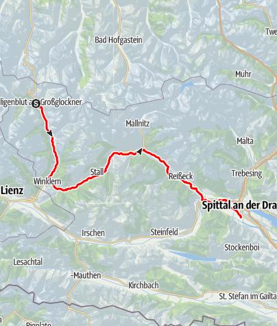 Map / Der Glockner-Radweg R8