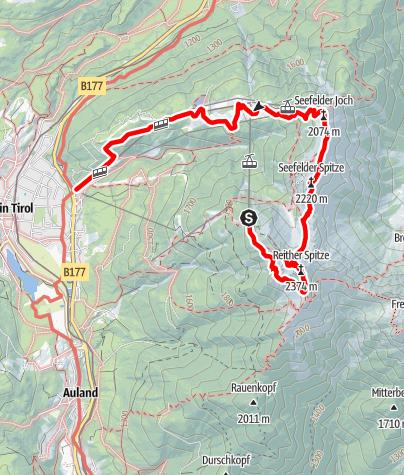 Kaart / Über die Nördlinger Hütte auf die Reither Spitze