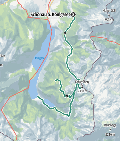 Karte / Zwei Tagestour Gotzenalm Obersee