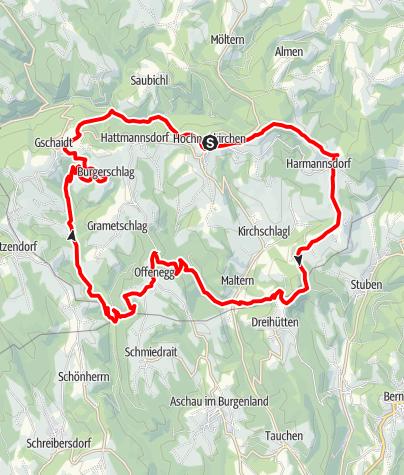 Mapa / Dreiländereck - Strecke