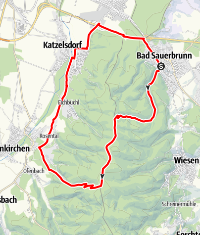 Karte / Sauerbründl - Strecke