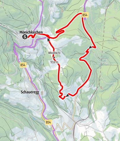 Mapa / Tauchenberg-Strecke