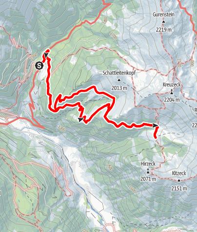 Map / Hüttschlag: Glettnalm