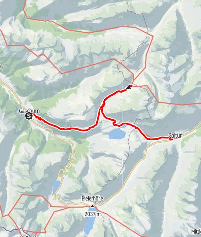 Karte / Der Landschaft auf der Spur (2-Tages Wanderung) – Landschafts- und Kulturpfad Gaschurn-Partenen-Galtür