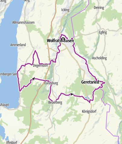 Karte / Wolfratshauser Starnberger See-RadTour
