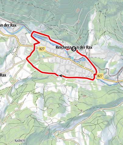 Karte / Laufstrecke Reichenau an der Rax