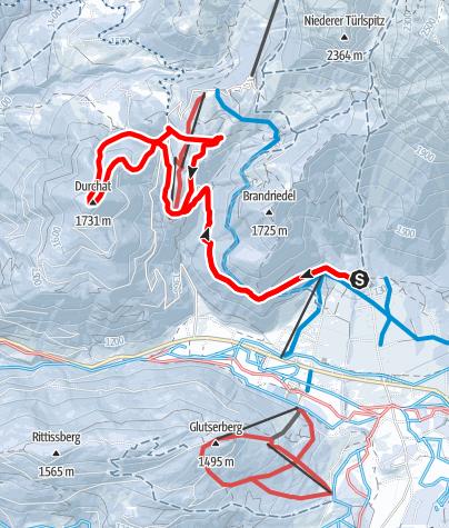 Karte / Dureggrunde Schneeschuhtour