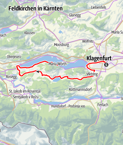 Karte / Transromanica-Tour 4: Klagenfurt - Keutschacher Seental - Maria Wörth