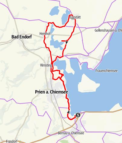 Karte / Seenplatte Genussradtour