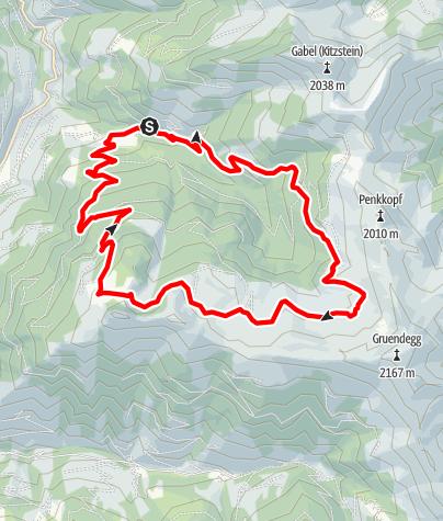 Karte / Großarl: Breitenebenalm - Großwildalm - Saukaralm