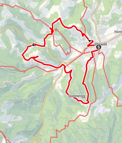 Karte / Aibler Schilchertour Variante lang