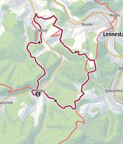 Karte / Bilstein: Veischeder Sonnenpfad: Nordschleife