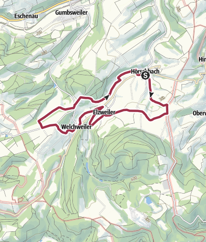 "Karte / Horschbach - Herrmannsberger Höhentour ""Panoramatour"""
