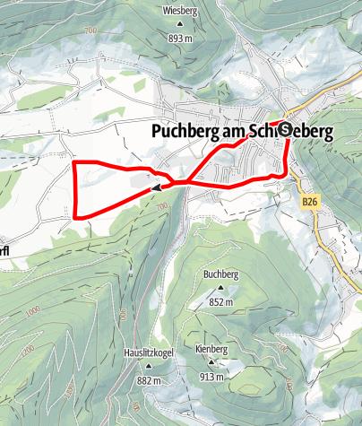Mapa / Laufstrecke Puchberg am Schneeberg