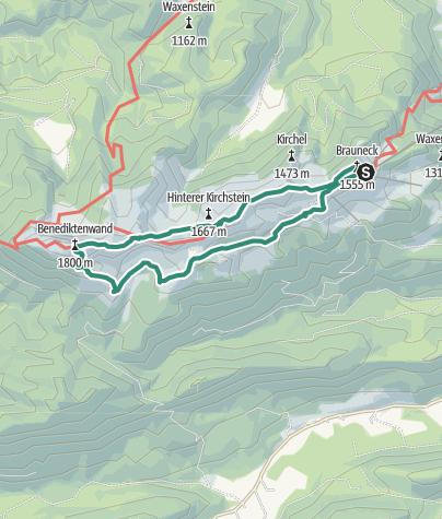 Karte / Von Lenggries zur Benediktenwand