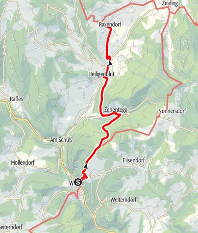 Map / Jauerling-Runde 05: Weiten-Raxendorf