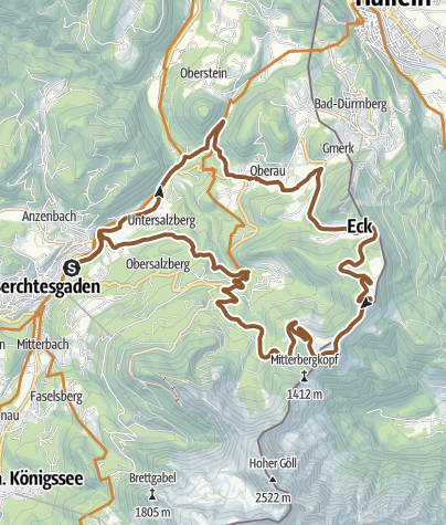 Karte / MTB: 11 - Roßfeld-Runde