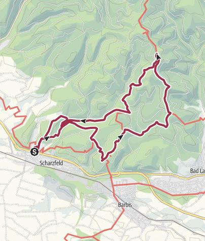 Karte / BaudenSteig Rundweg Nr. 5: Scharzfeld