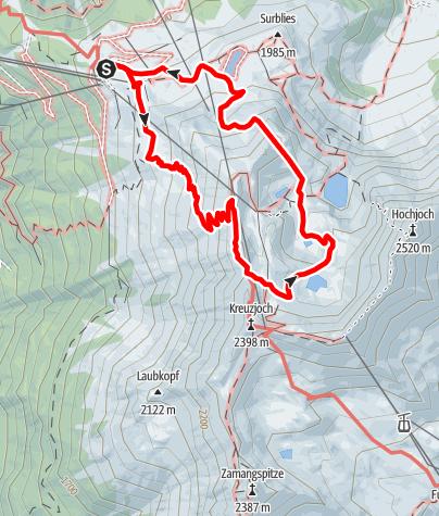 Karte / Wege zum Wasser: 3-Seen-Panoramaweg am Hochjoch