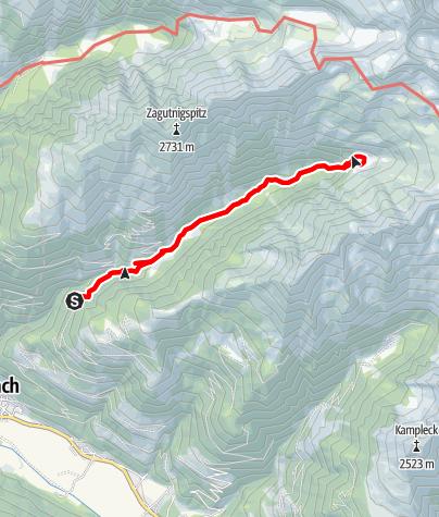 Karte / Stranighütte - Moosboden (Kaponigtal)