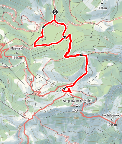 Karte / Auf die Kampenwand zur Steinlingalm