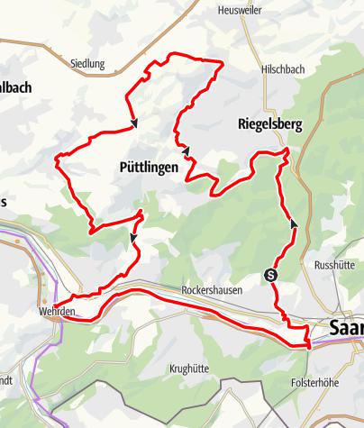 Map / Burbach-Köllertal Loop