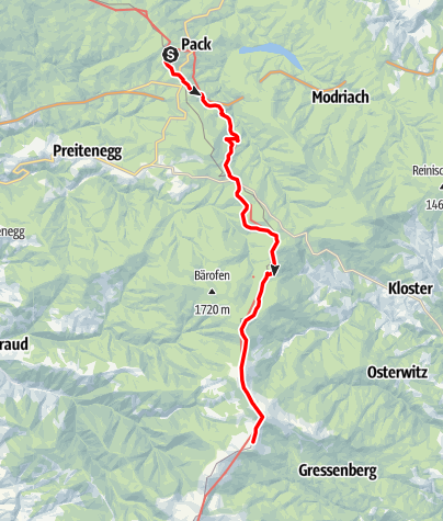 Karte / Koralm Kristall Trail - 2. Tagesetappe