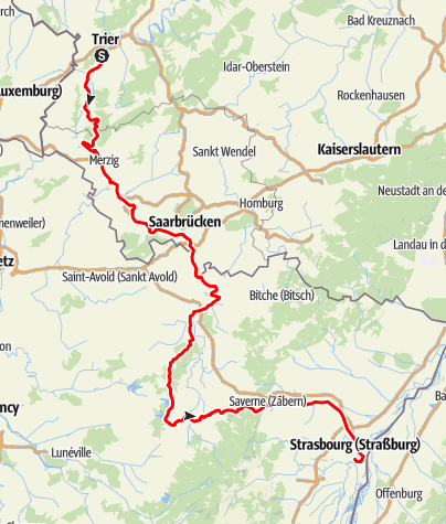 Karte / Saar-Elsass-Tour