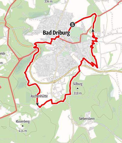 Karte / VitalWanderWelt - Südlicher Sachsenring Bad Driburg