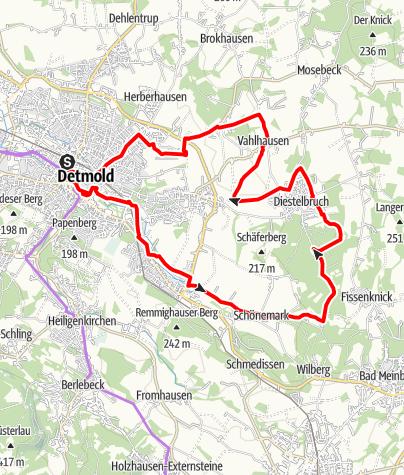 Kaart / Leistruper Wald-Tour