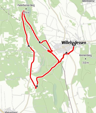 Kaart / Aktiv-Park im Eggegebirge, Route 5
