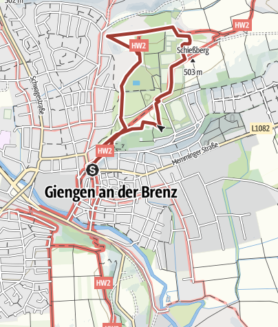 Karte / Giengen-Naturlehrpfad