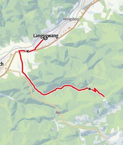 Karte / Mountainbikestrecke auf das Hauereck