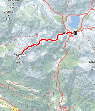 Karte / Roggelskopf, 2284 m | Dalaas