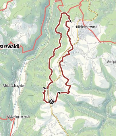 Karte / Höchenschwand: Schinkenweg