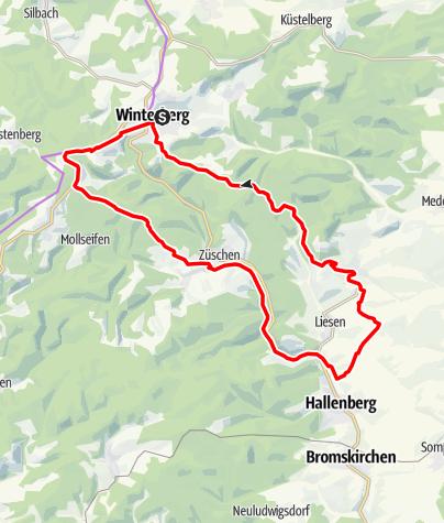 Karte /  Winterberg-Hallenberg-Runde