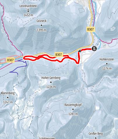 Karte /  Loipe Wildbad Kreuth - Klamm